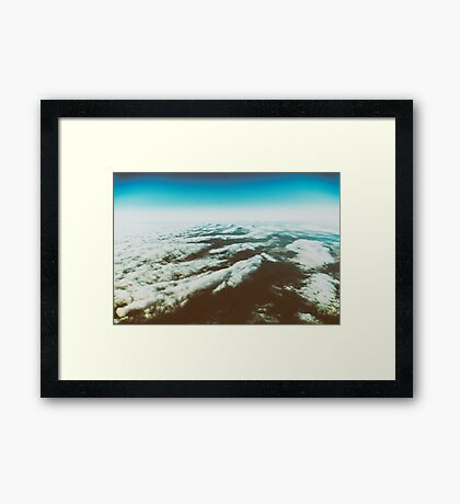 Earth Photo From 10.000m (32.000 feet) Above Ground Framed Print