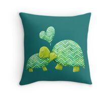 Turtle Hugs Throw Pillow