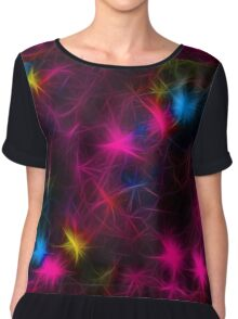 Abstract Color Chiffon Top