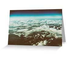 Earth Photo From 10.000m (32.000 feet) Above Ground Greeting Card