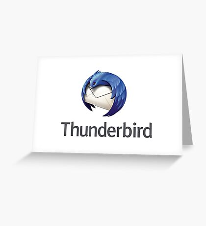 thunderbird email mail software Greeting Card