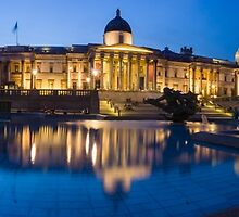 National Gallery Night Panorama by TomGreenPhotos