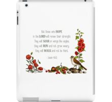Bible Verse, Isaiah 40, Christian Scripture, Hope in the Lord iPad Case/Skin