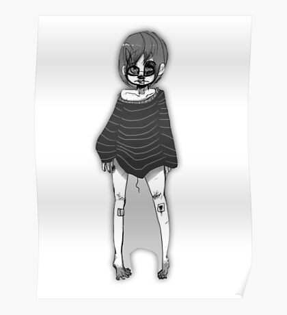 Greyscale cutie Poster