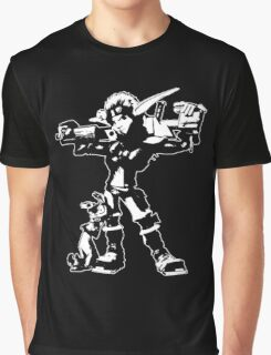 Jak and Daxter - Jak 2 White Silhouette Graphic T-Shirt