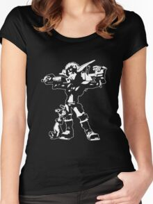 Jak and Daxter - Jak 2 White Silhouette Women's Fitted Scoop T-Shirt