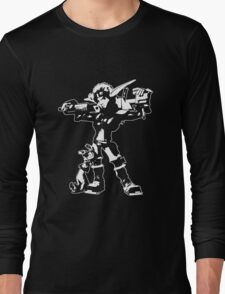 Jak and Daxter - Jak 2 White Silhouette Long Sleeve T-Shirt