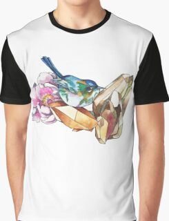 Bird and crystals Graphic T-Shirt
