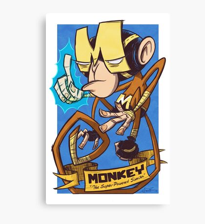 Dial M for Monkey Haymaker Canvas Print