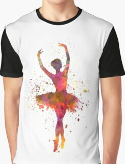 Woman ballerina ballet dancer dancing  Graphic T-Shirt