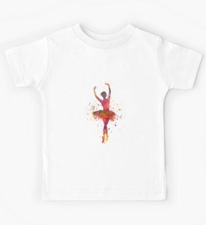 Woman ballerina ballet dancer dancing  Kids Tee