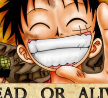 One Piece Bounty - Luffy Sticker