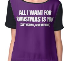 All I want for christmas is you Chiffon Top