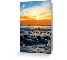 serene rocky beal beach Greeting Card
