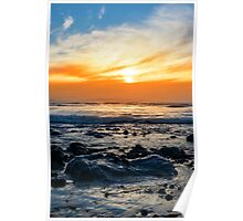 serene rocky beal beach Poster