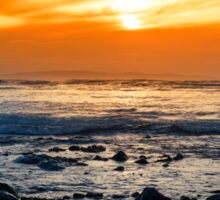 serene rocky beal beach Sticker