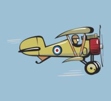 Cartoon biplane Kids Tee