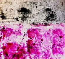 Magenta and Black monotype by Susan Grissom