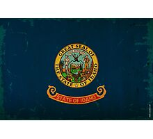 Idaho State Flag VINTAGE Photographic Print