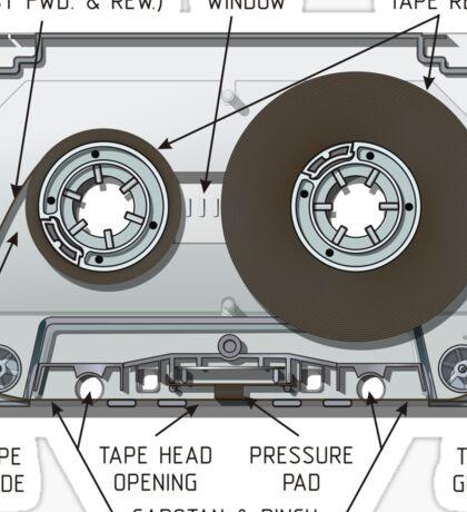 Audio cassette cutaway Sticker