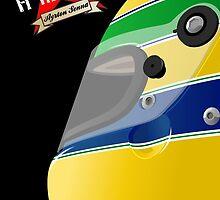 AYRTON SENNA _ Classic F1 Helmets by Cirebox