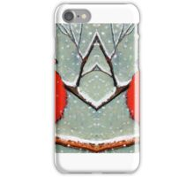 Cardinal Couple, Red Birds in Snow, Winter, Painting, Wildlife iPhone Case/Skin