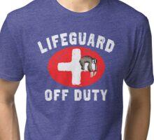 Sloth Lifeguard Off Duty Tri-blend T-Shirt