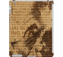 Surfing Hawaii, The Green Room, Hawaiian Surfing Design     iPad Case/Skin