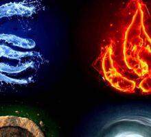 Avatar, Water Fire Earth Air Sticker