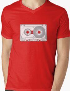 Audio cassette cutaway Mens V-Neck T-Shirt