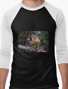 Capuchin Monkey At Amaru Men's Baseball ¾ T-Shirt