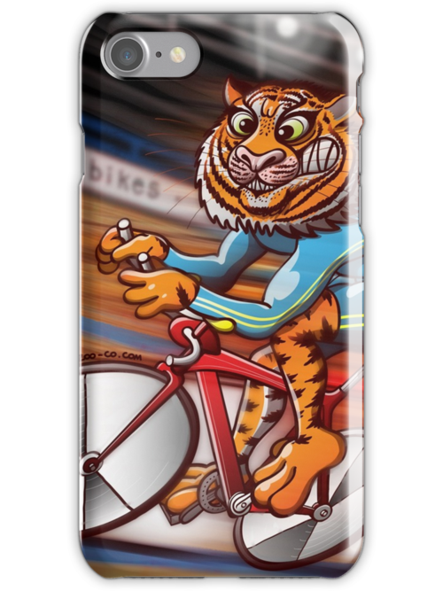 Cycling Tiger Riding a Racing Bicycle by Zoo-co