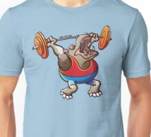 Weightlifting Hippopotamus Unisex T-Shirt