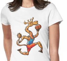 Basketball Giraffe Womens Fitted T-Shirt