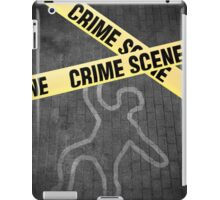 An outline of a person on a street. Murder? Suicide? An accident? iPad Case/Skin