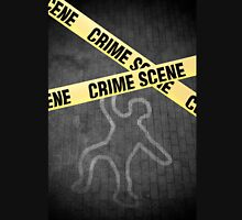 An outline of a person on a street. Murder? Suicide? An accident? Unisex T-Shirt