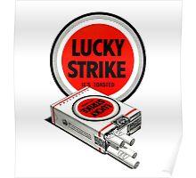 Vintage Lucky Strike Logo Poster