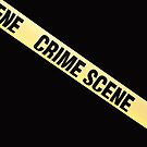 Crime scene ribbon cut out. Transparent background.  by funkyworm