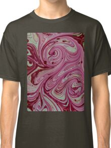 Pink, red and cream marble pattern Classic T-Shirt