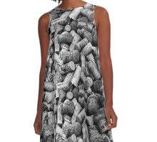 Wine Lovers Black & White A-Line Dress