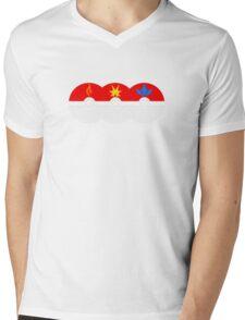PokeGo CapturedTeams Mens V-Neck T-Shirt