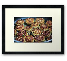 Meatballs cooking Framed Print