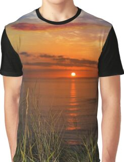 sunset over loop head with wild thistles Graphic T-Shirt