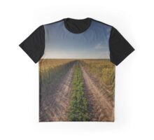 Rural road through wheat field Graphic T-Shirt
