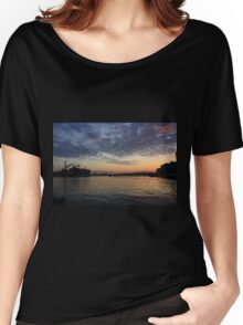 Sunset at Boston Harbor Women's Relaxed Fit T-Shirt