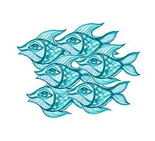 blue fishes Photographic Print