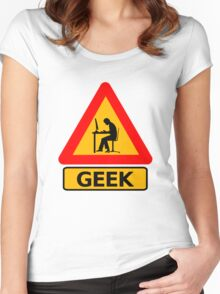 Geek Sign - Computer Nerd Funny T Shirt Women's Fitted Scoop T-Shirt