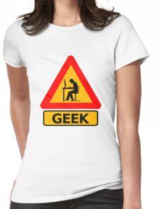 Geek Sign - Computer Nerd Funny T Shirt Womens Fitted T-Shirt