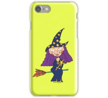 Witch on a broom iPhone Case/Skin