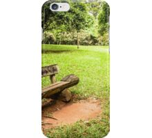 isolated wooden bench iPhone Case/Skin